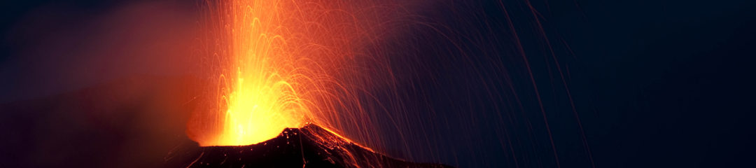 Stromboli eruption night