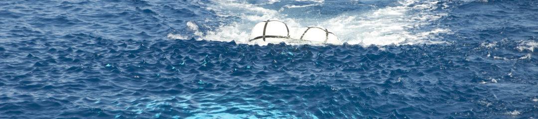 Airgun fired under water