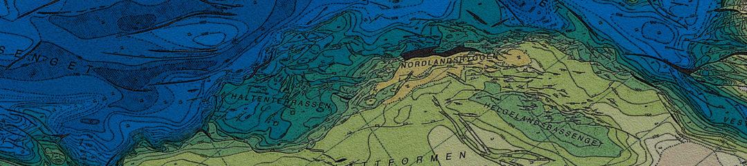 Map of the Norwegian Sea - Formkart Norskehavet